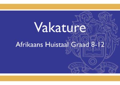 Afrikaans onderwyser gesoek!