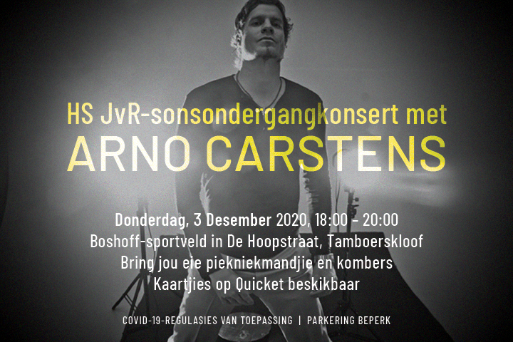 Arno Carstens Uitnodiging